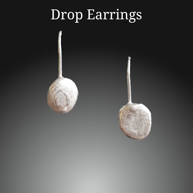 sterling silver long drop dangle earrings