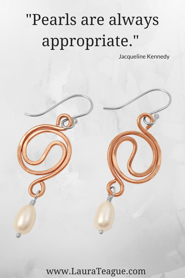 Copper jewelry freshwater pearl