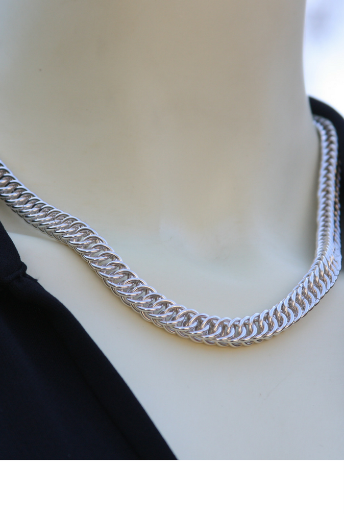 Handmade sterling silver persian necklace