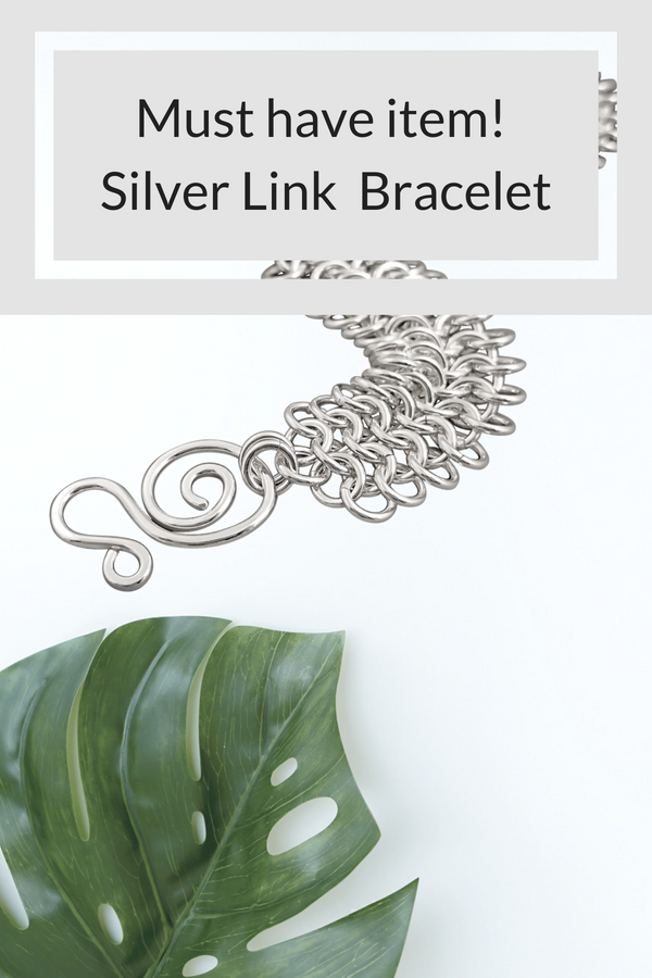 Must have item - handmade sterling silver link bracelet from Baton Rouge, Louisiana