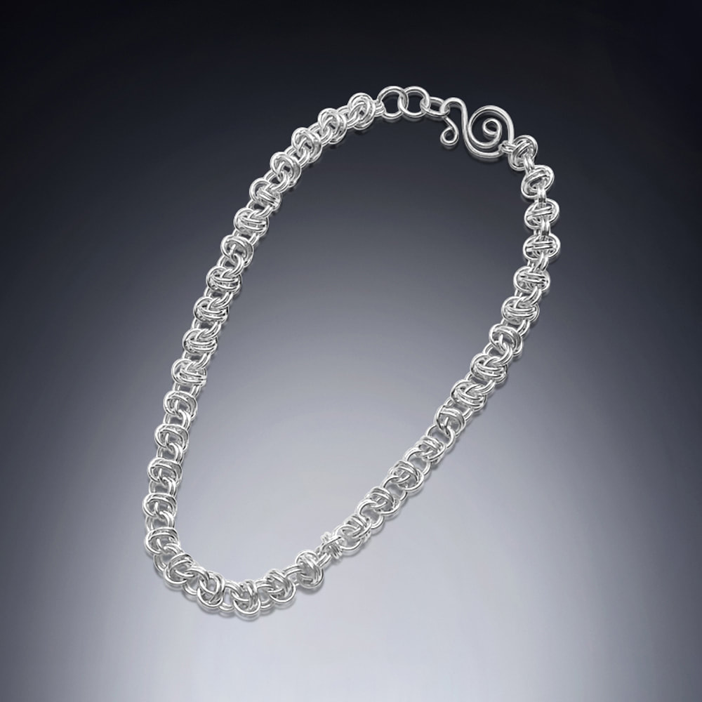 necklace sterling silver links chain