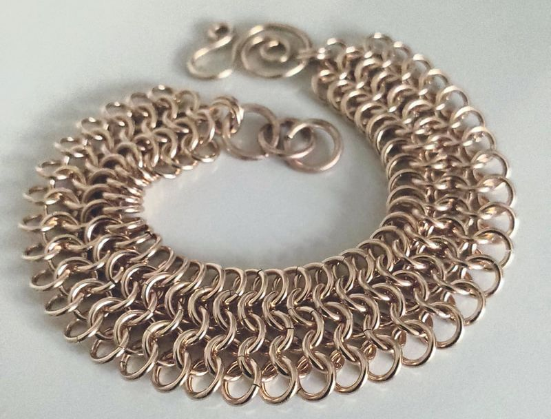 gold chain link bracelet laura teague